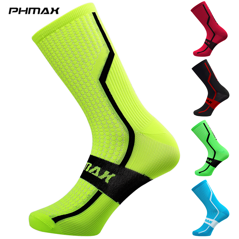 PHMAX 7 Colors Unisex Cycling Socks  MTB Bicycle Socks Professional Outdoor Sports Racing Mountain Bike Cycling Socks