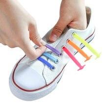 Terceira versão de silicone elástico cadarços moda unisex atlético sem laço sapato todos os tênis caber sapato rápido laço 13 cor