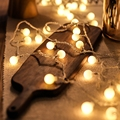 LED Ball Garland Lights Fairy String Waterproof Outdoor Lamp Christmas Holiday Wedding Party Decoration room layout bedroom QDRR