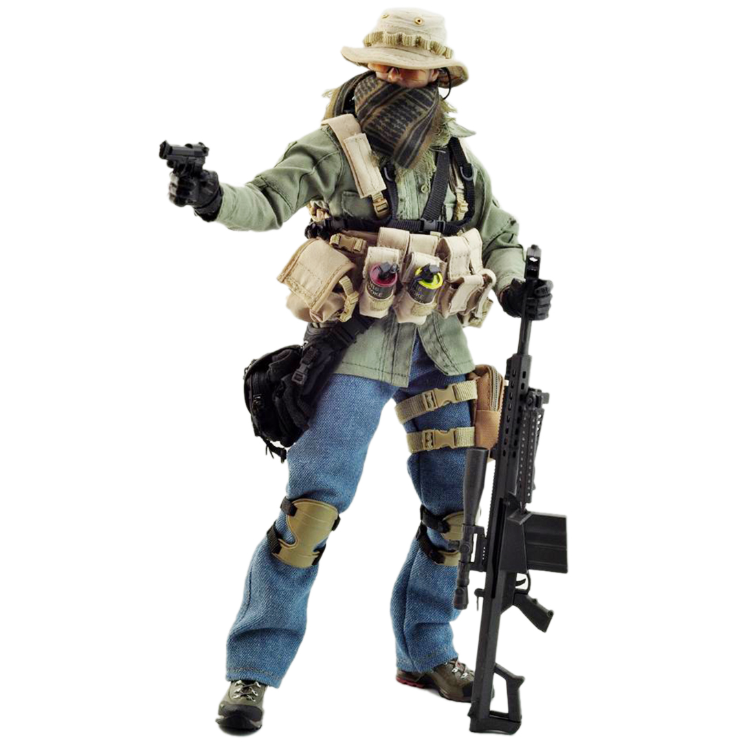VeryHot Soldier Model Suit PMC Sniper Uniform Equipment for 1/6 12 Inch Soldier Model (Body and Head Not Included )