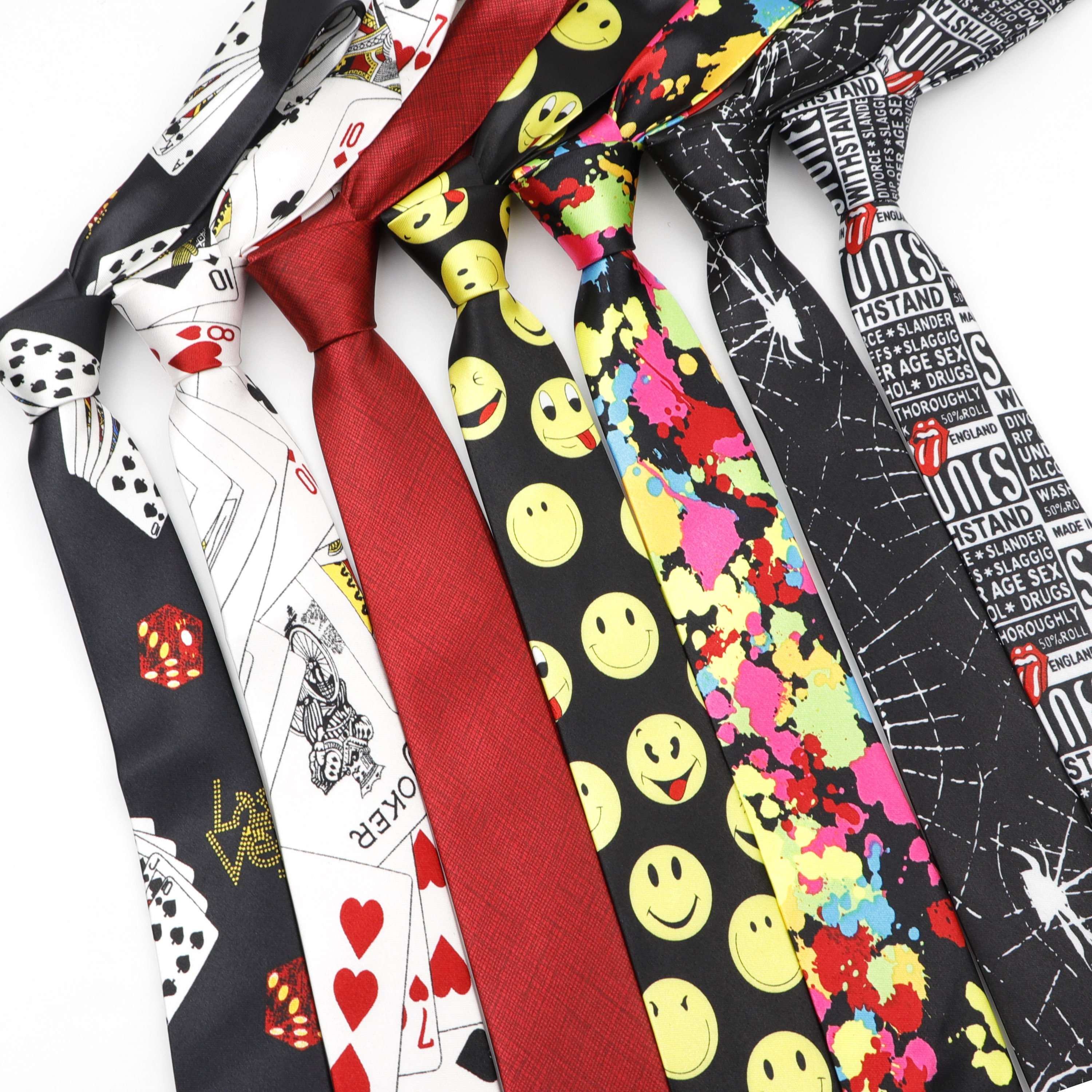 Men Fashion Tie Funny 5cm Width Dollar Designer Hallowmas Character Cravate Men's Party Holiday Gift Casual Wedding Neckties