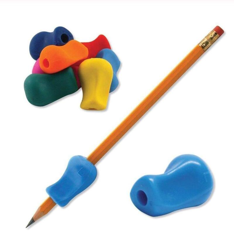 5/2/1pcs Writing Aid Grip Silicone Handwriting Kids Pencil Grip Soft Gifts Holder Posture Correction Tool Handwriting Tool