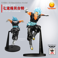 Japanese Anime 1/100 Dragon Ball Super Blue Hair Vegetto 26cm PVC Metal Colored Doll Christmas Gift Action Toy Figures