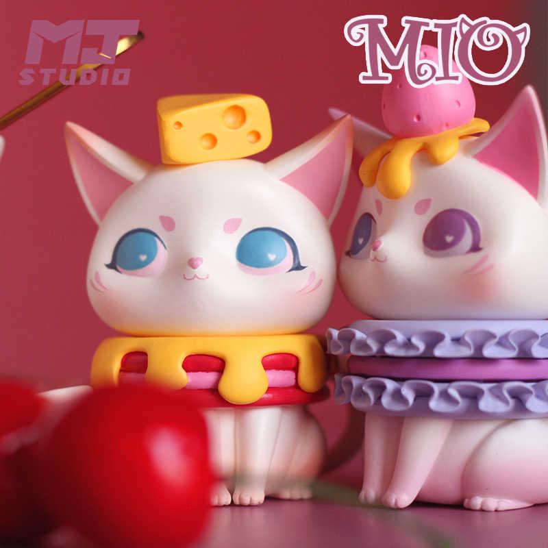 1 Pc Mio Teatime Serie Kat Cartoon Blind Doos Willekeurige Doos Speelgoed Figuur Dessert Kawaii Leuke Cadeaus Voor Meisjes