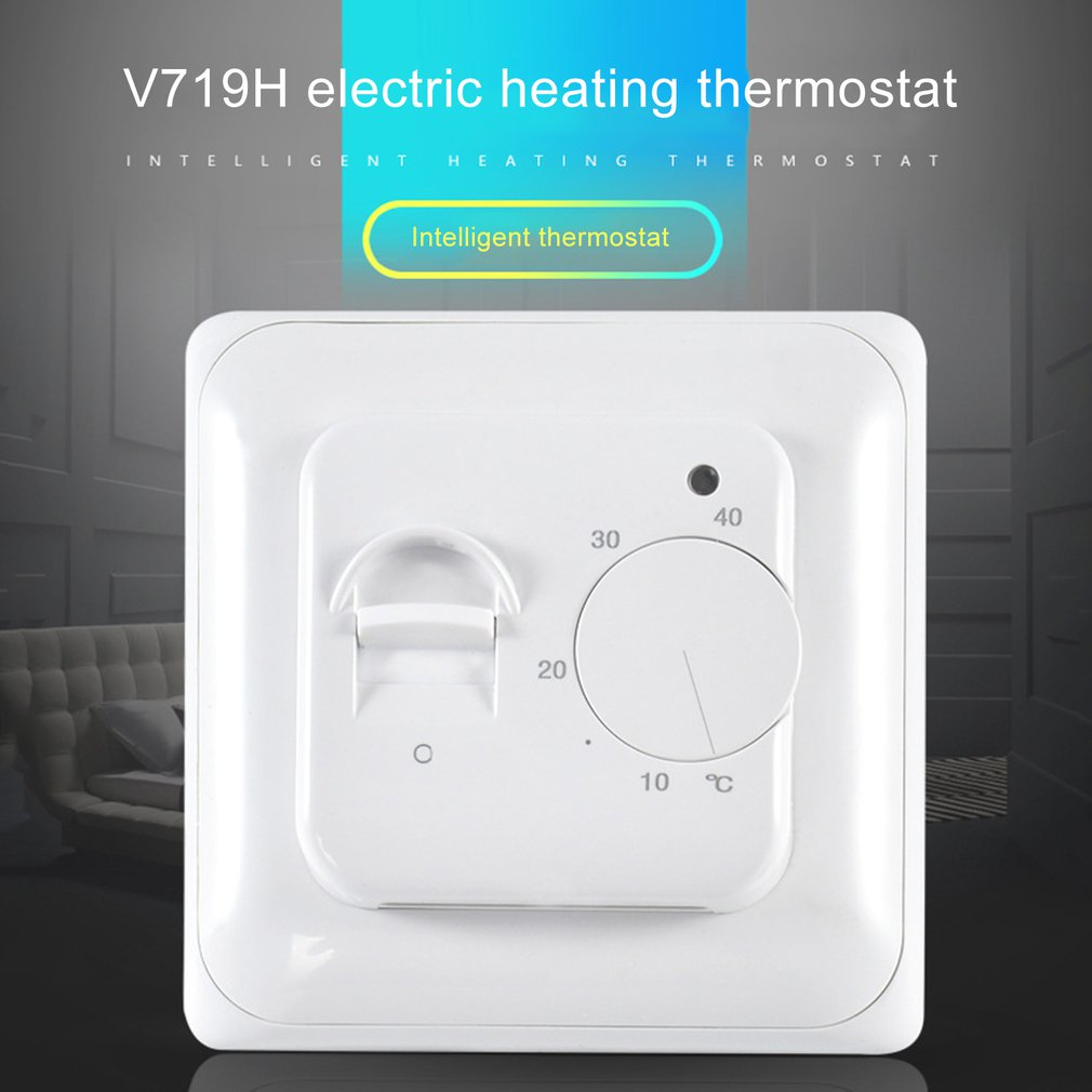 V719H Indoor Warming Temperature Controller 220V 16A Manual Operation Floor Room Thermostat Heating Room Control Switch