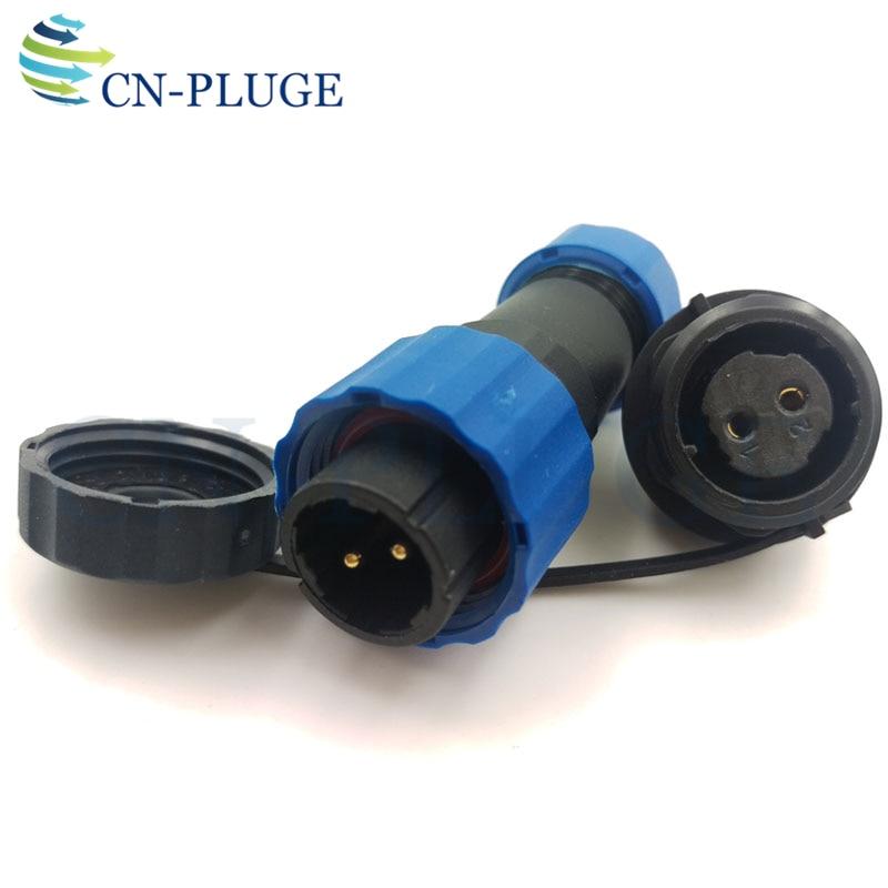 Connecteur étanche IP68 SP16 2 3 4 5 6 7 9 broches, prise de fil d'aviation et d'automobile, montage sur panneau