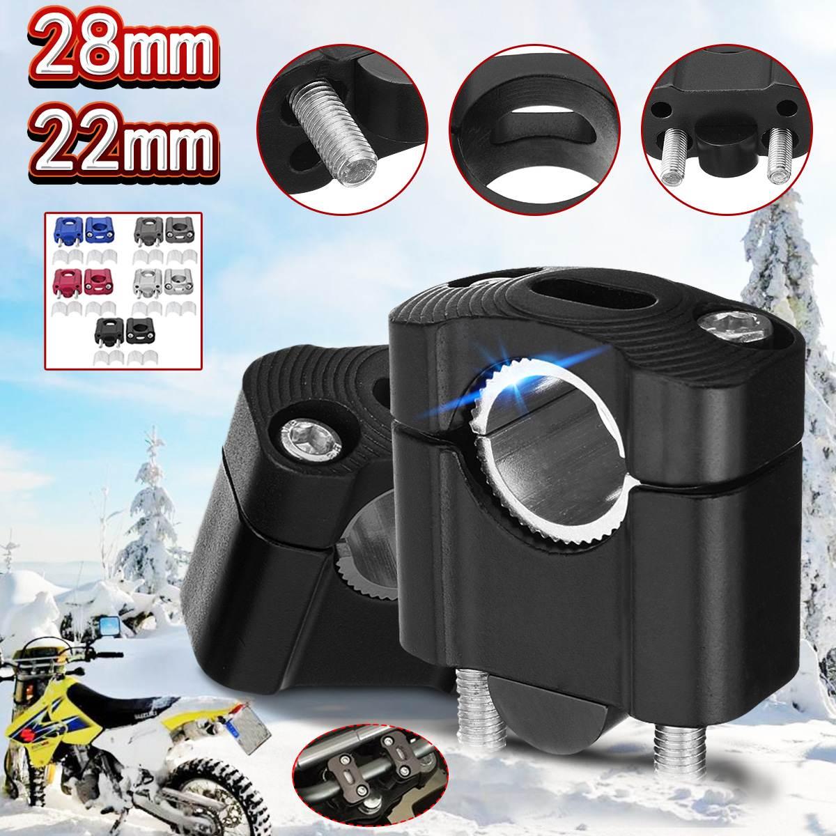 Universal 22mm 28mm Motorcycle Handlebar CNC Bar Clamps Handlebar Risers For 7 8inch 1-1 8 Pit Dirt Clamp Riser Taper Dirt Bike