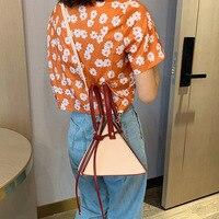 Summer ins Super Fire Woman 2019 New Wave Korean Joker Single Shoulder Messenger BagFashion personality bucket bag