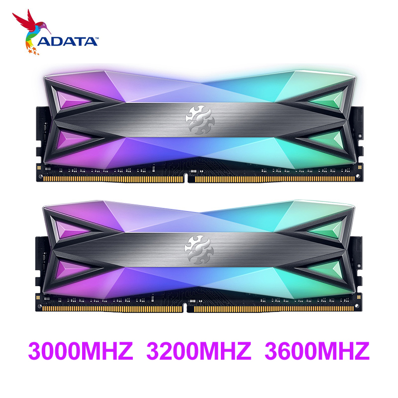 ADATA ddr4 ram 8gb D60G RGB 16GB (2x8GB) 3200MHz 3000mhz 3600mhz 4133mhz Desktop Memory CL16 2x Dual-channel original and new
