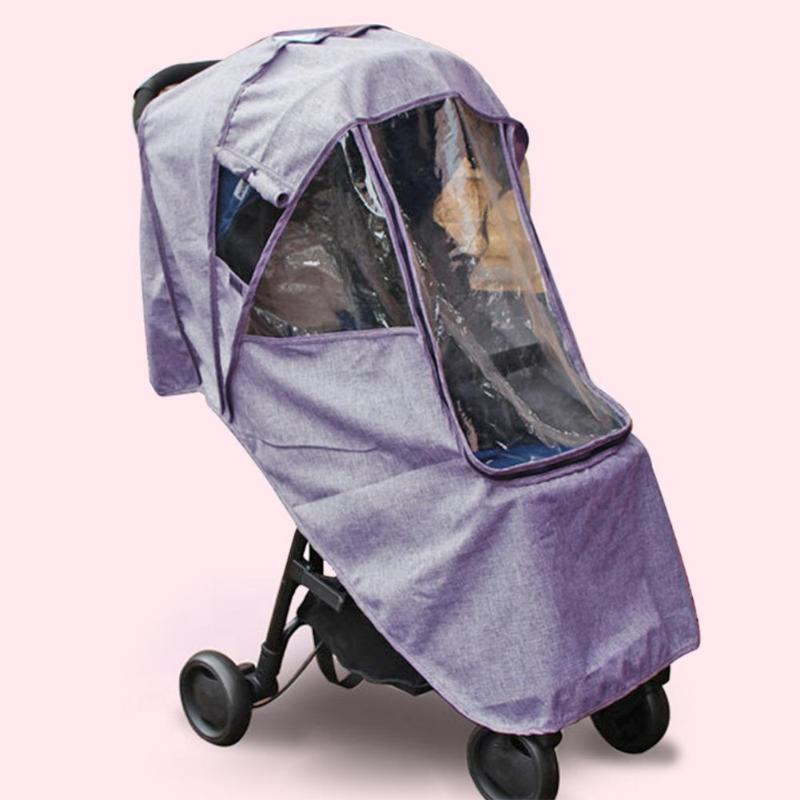 Baby Stroller Raincoat Cover Trolley Umbrella Car Rain Cover Baby Stroller Windshield Stroller Accessories Trolley Accessories