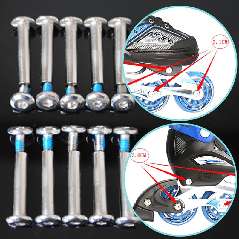 1pc Skate Roller  Screws Kids Inline Skates Children Skate Shoes Skating Bolt Screw Nails For Brake Block Skating Wheel Screw