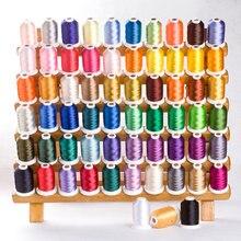 60 цветов Simthread Brother цветная компьютерная вышивка нить полиэстер лед шелк 5000 м пагода линия Brother цвет номер
