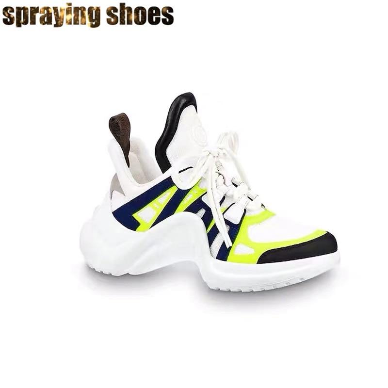 Nouveau néon vert femmes baskets bout rond chaussures décontractées dames à lacets formation chaussures de course femme Sport chaussures vulcanisées