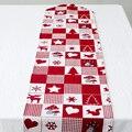Рождественский дождевой олень Льняной текстиль настольная дорожка домашний текстиль Новый год офисное здание фестиваль Декор чехол