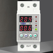 Under-Voltage-Protective-Device Relay Protector Current Din Rail Over-Voltage Dual-Display