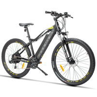 27.5 inch electric mountian bicycle 48V hidden lithium battery 400w motor electric ebike off road emtb Travel assist bicycle
