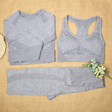 ATHVOTAR Vital Seamless Yoga Set 2/3 sztuk kobiety zestaw gimnastyczny stanik sportowy z długim rękawem krótki Top Running legginsy gimnastyczne Fitness strój sportowy