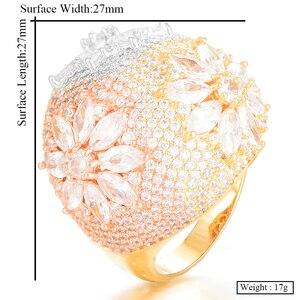 Image 5 - GODKI 高級花ビッグ太字と石 2020 女性婚約パーティージュエリー高品質