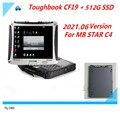 Лучшее качество CF19 CF-19 ноутбук с новейшим программным обеспечением SSD для MB Star C4 C5 SD Connect звезда компактный 4 мультиплексор диагностический и...