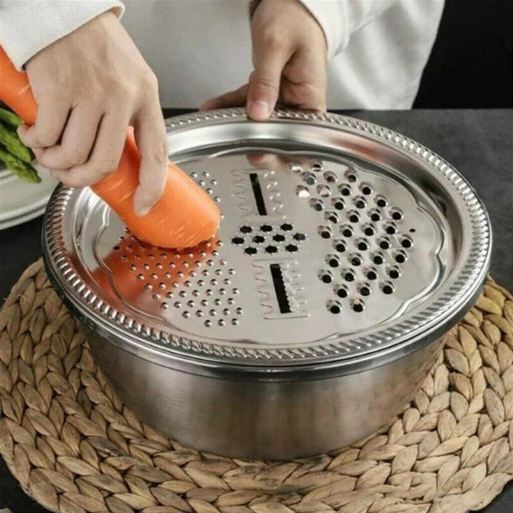 Многофункциональные кухонные терки для сыра и овощей, раковина для салата, стальные терки для фруктов
