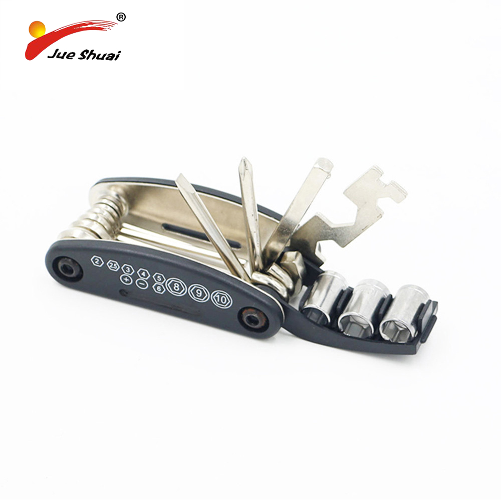 Bicycle Cycling 16 in 1 Multi-function Repair Tools Chain Rivet Extractor