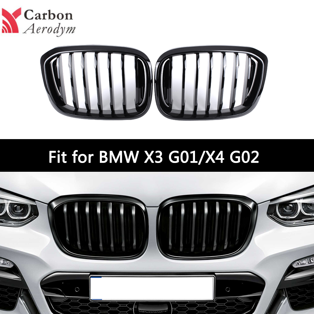 Front Bumper Grille For <font><b>BMW</b></font> <font><b>G01</b></font> G02 Racing <font><b>Grill</b></font> <font><b>X3</b></font> X4 Series ABS glossy black/Matte balck Auto Styling 2018+ image