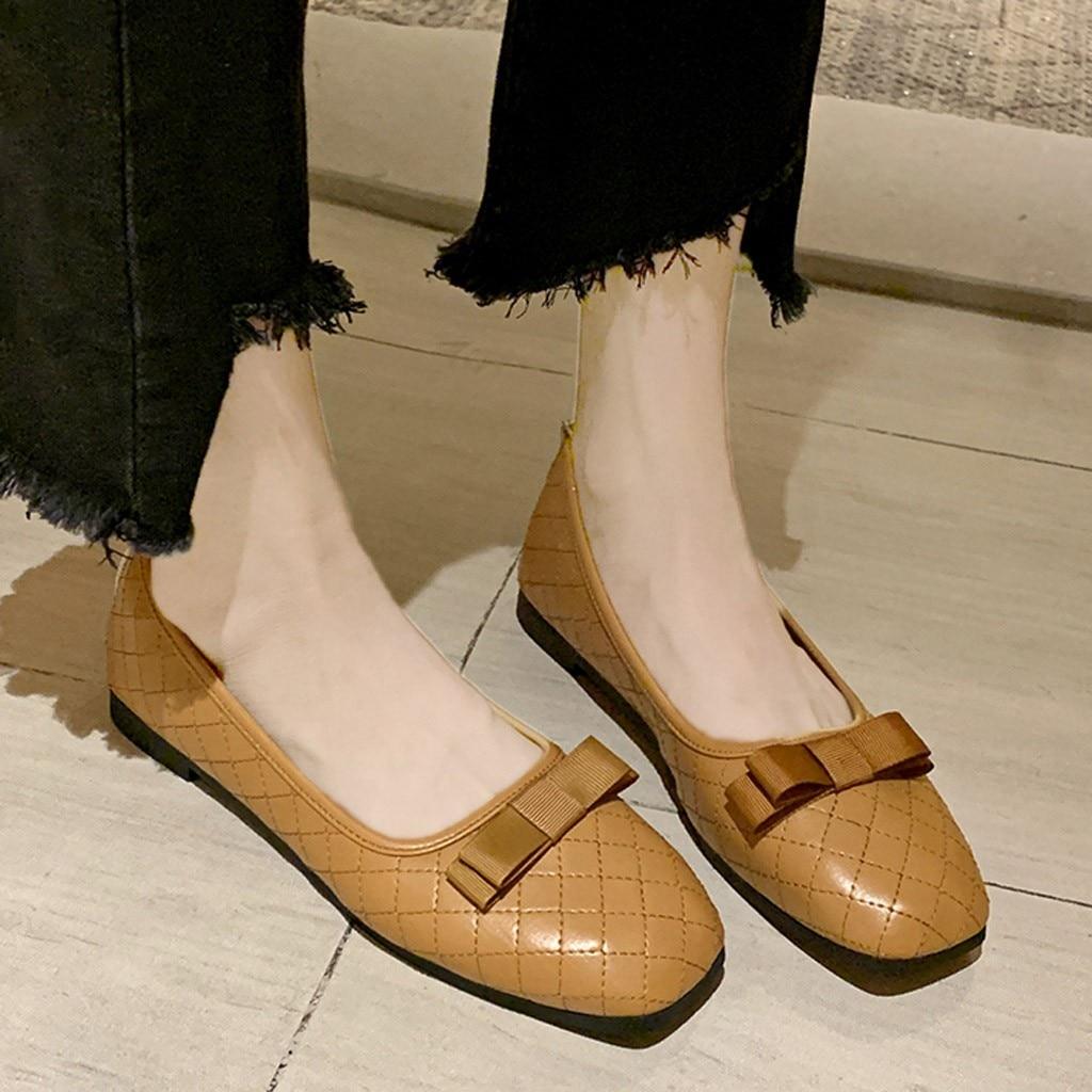 480.69руб. 42% СКИДКА|Кожаные туфли на плоской подошве; женские туфли в горошек с закрытым носком и бантиком; Балетки без застежки; женская обувь; модель 2020 года; Zapatos planos в Корейском стиле|Обувь без каблука| |  - AliExpress