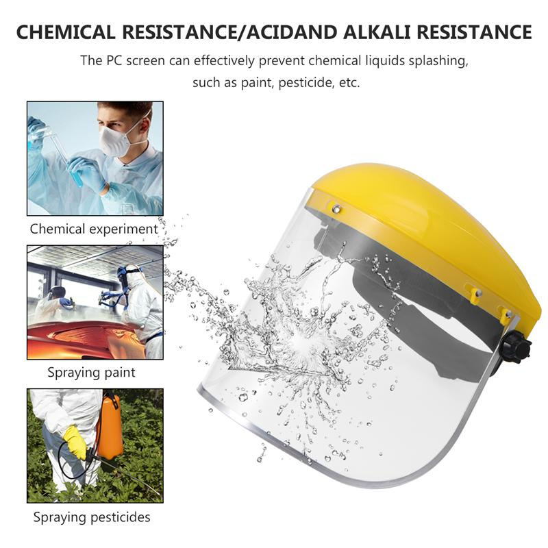 Protective Face Mask Safety Face Shield Mask Garden Grass Cutting Safety PVC Mask Splash Proof Mask Face Protective Screen