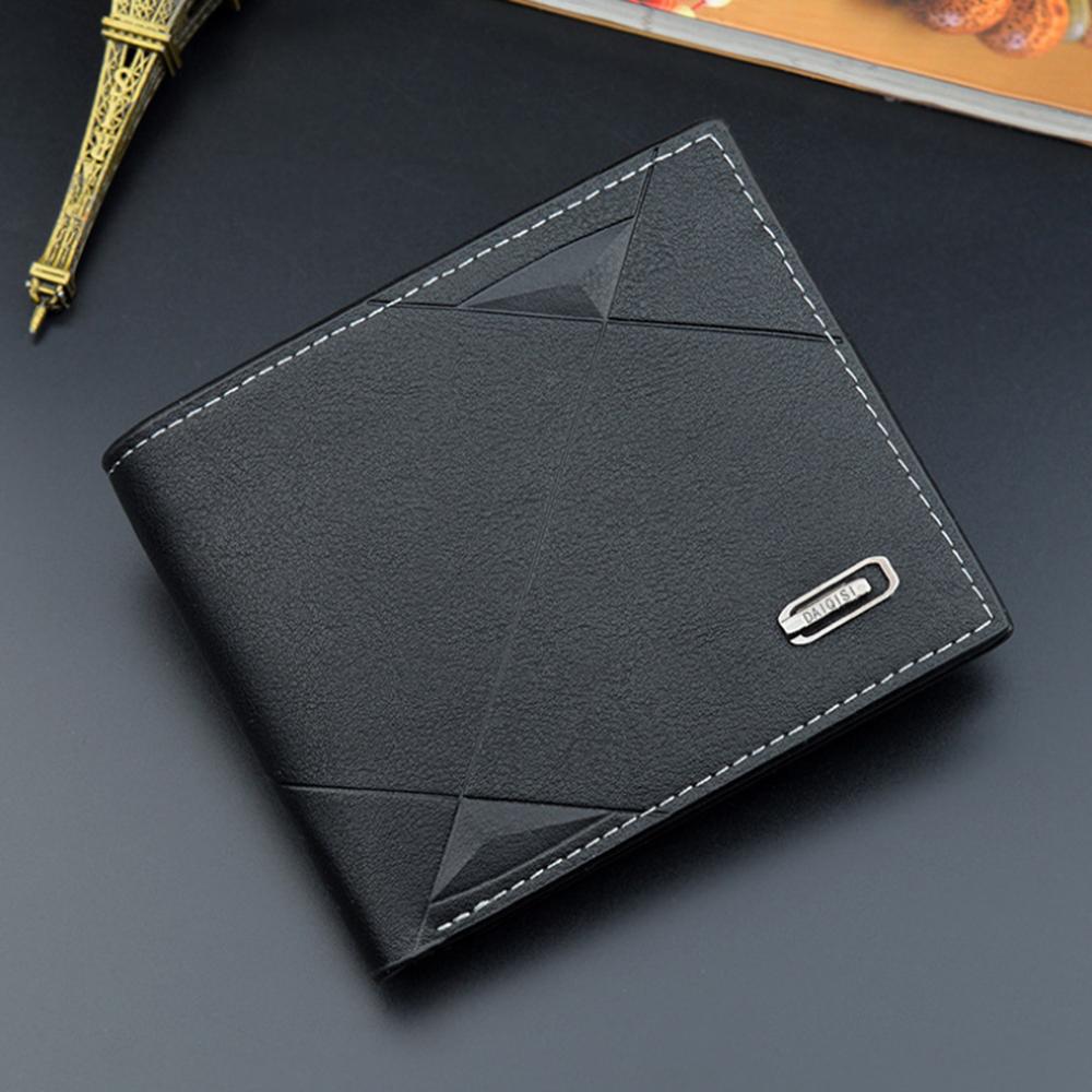 Men Business Leather Billfold Wallet Brand Luxury Short Slim Male Purses Money Credit Card Thin Hombre Billetera Portafoglio