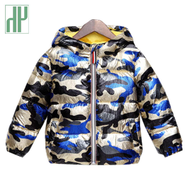 Kids jacket Autumn Warm Thick Hooded Coat Children Outerwear 3-7 Y Toddler Girl boys winter jacket Clothing Camouflage Coat