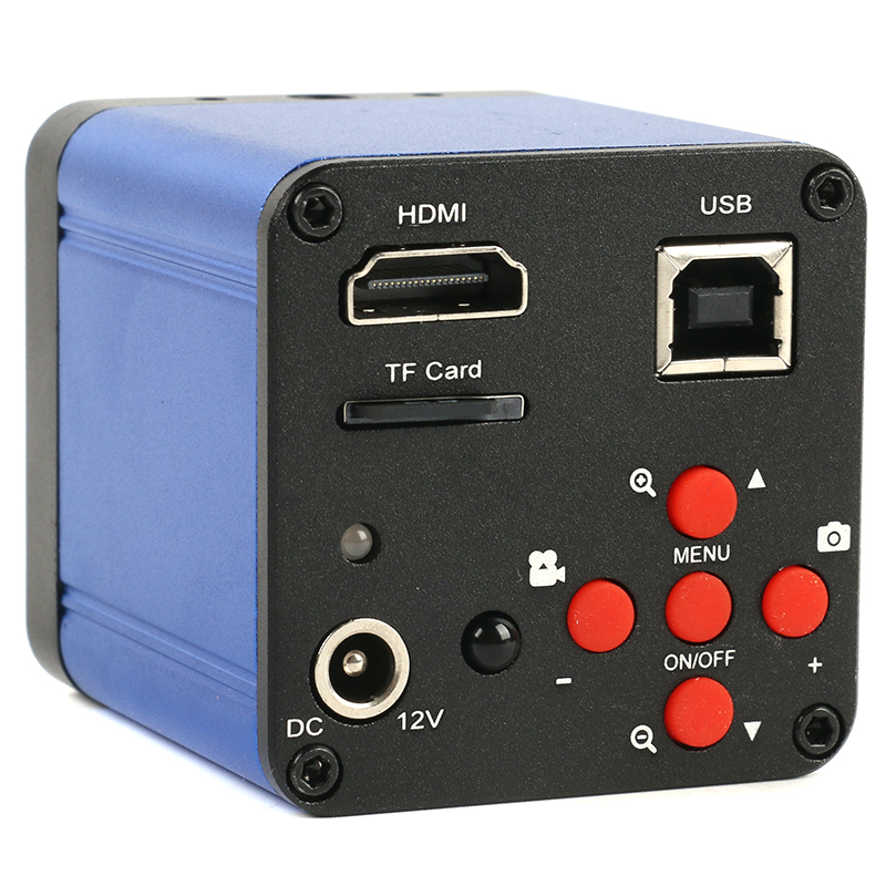 FHD 38MP 1080P USB HDMI Industrial Digital Microscopio de vídeo Cámara c-mount TF tarjeta de almacenamiento de vídeo grabadora