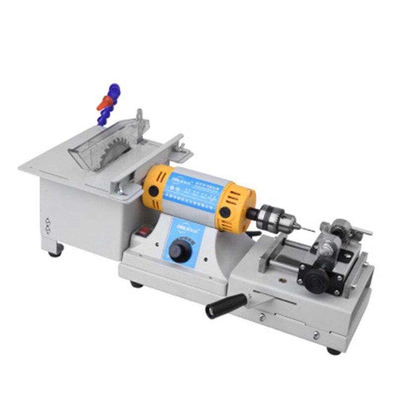 Multifunction Bench Mill Jade Cutting Machine Jewelry Drilling Polisher Engraving Machine Polishing Beads Polisher Beeswax