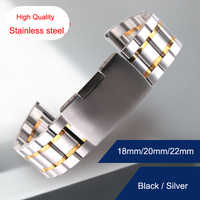 18mm 20mm 22mm 24mm Stainless Steel Watch Band for Tissot T035 PRC200 T055 T097 Watchband Strap Wrist Bracelet