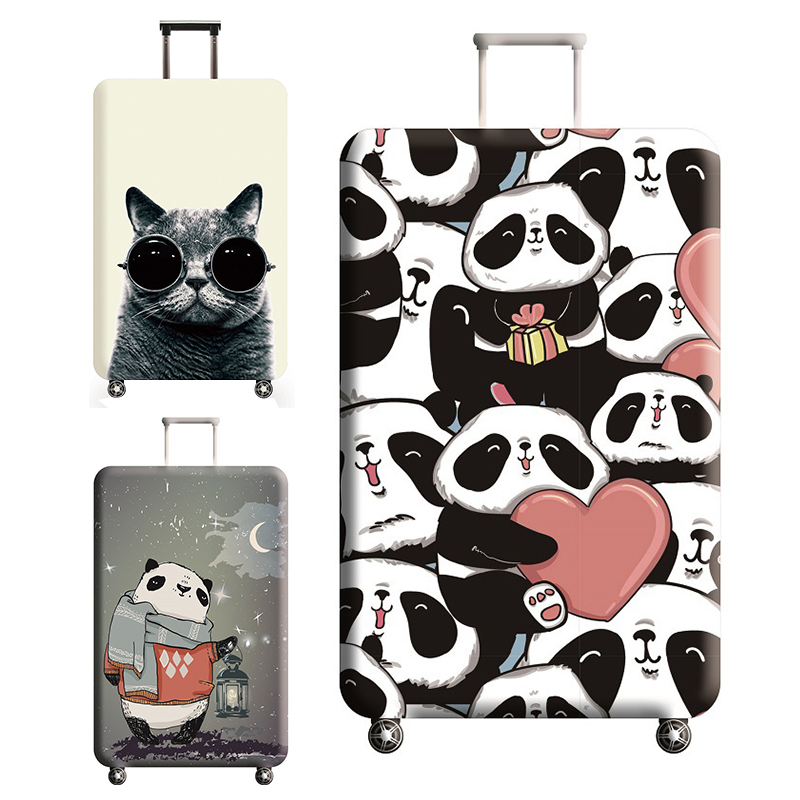 Thicken Luggage Cover Case On A Suitcase Panda Pattern Suitcase Case Suitable For 18-32 Inch Travel Accessories Suitcase Cover