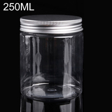 250ml Plastic Bottles Cosmetics Jar with Screw Lids Empty Cosmetic Containers Makeup Powder Case Nail Art Jewelry Storage Box
