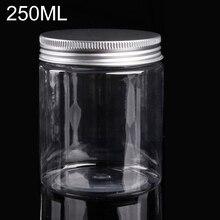 250ml 플라스틱 병 스크류 뚜껑이있는 화장품 항아리 빈 화장품 용기 메이크업 파우더 케이스 네일 아트 쥬얼리 보관함