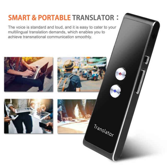 T8 Translator Voice Real Time Instant Multi Language Speech Interactive Translate BT APP Portable Smart Translaty