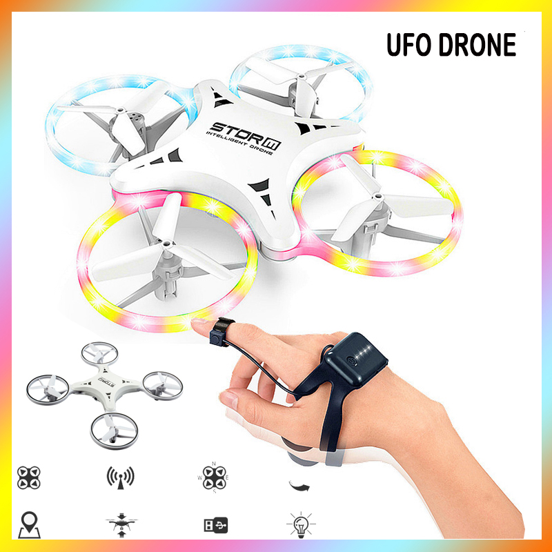 racing dron RC Helicopter mini Drone UFO With 1080P HD Camera FPV Watch Gesture Hand Quadcopter Interactive Induction toy