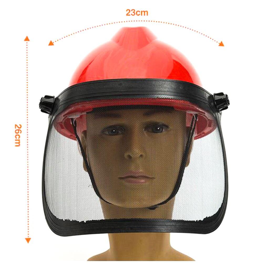 Hf284f8b5cde6447e855a80f7be80a487o Full Face Mesh Grass Trimmer Helmet Outdoor Protective Mask Metal Visor Workplace Garden Ear Defenders 180 Degrees Adjustable