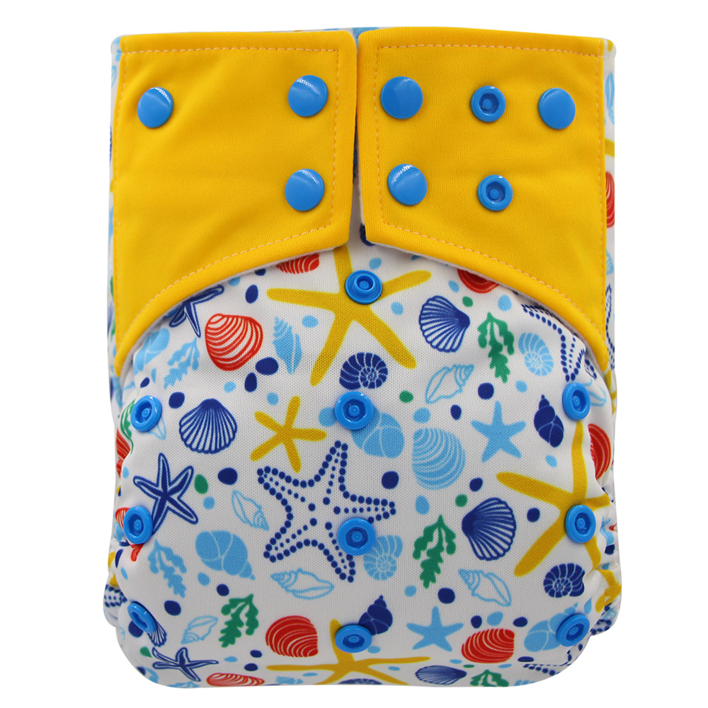Reusable Cloth Diapers Waterproof Baby Nappies Heavy Wetter Night AI2 Bamboo Charcoal Baby Cloth Diaper Nappy One Size Fit All