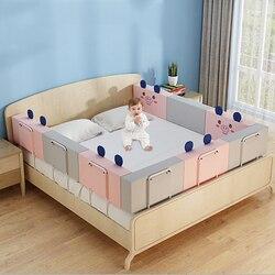 28 см высота детское постельное белье поручнем с регулировкой по высоте, анти-столкновения с двухсторонним движением детская кроватка крова...
