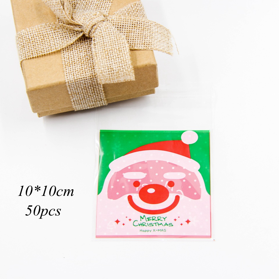 1set House Shape Christmas Candy Gift Bags With Ropes Xmas Tree Cookie Bags Merry Christmas Guests Packaging Boxes Party Decor 7