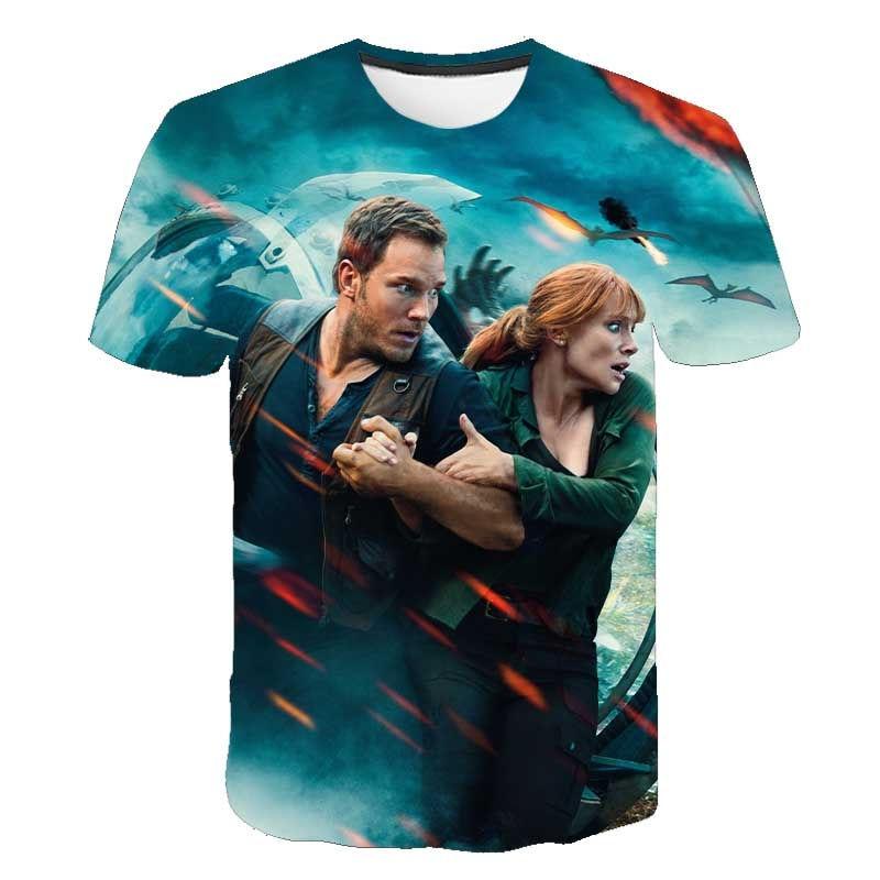 New Jurassic Park T Shirt Men Women 3D Printed T-shirt Casual Funny Tops Jurassic World Tees Children Boy Girl Cool tshirt