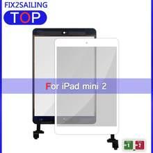 Для iPad Mini 2 Сенсорный экран дигитайзер с кнопкой-кнопкой кабель ИС для iPad Mini 1/2/3 A1432 A1454 A1455 стекло