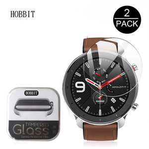 Image 1 - Screen Protector Tempered Glass For Xiaomi Amazfit GTR Smart Watch 47mm 42mm 2Pcs Explosion proof Anti Scratch Transparent Film