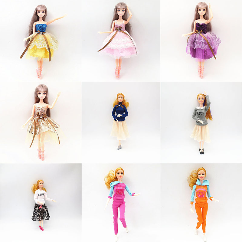 <font><b>1/6</b></font> Doll <font><b>Clothes</b></font> Accessories <font><b>Bjd</b></font> Fashion Dress Two-piece Teacher Set Girls Sports Daily Casual Outfit DIY Kids Toys Girl Gift image