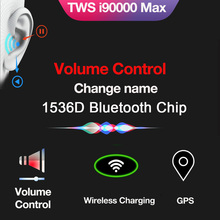 True Bluetooth 5.0 Earphone i90000 MAX TWS Wireless Headphons Sport Handsfree Earbuds