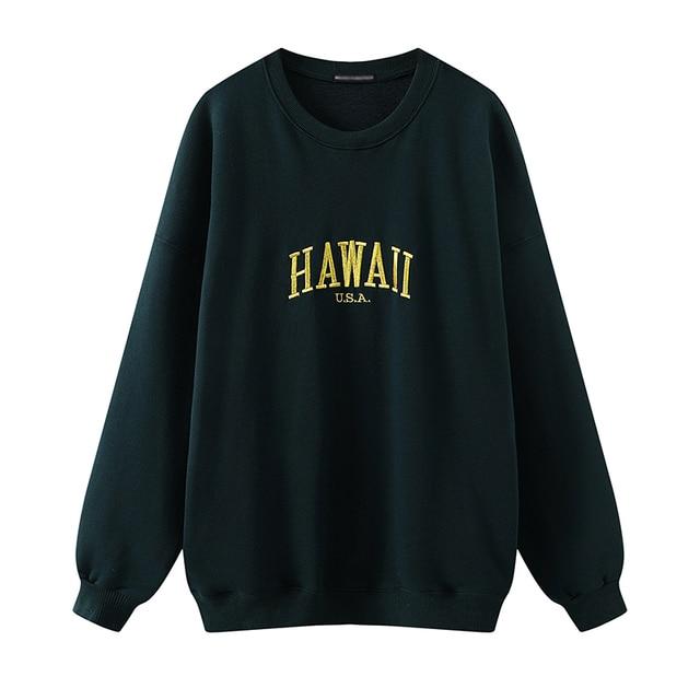 Oversize girls letter embroidery sweatshirts 2020 autumn fashion ladies soft cotton pullovers female casual sweatshirt women 1