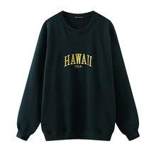 Sudaderas de Bordado de letras de gran tamaño para niñas, moda de otoño, jerséis de algodón suave para mujer, sudadera informal para mujer 2020