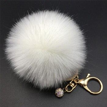 Handbag Fluffy Ball Keychain